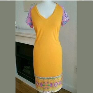 $460 Cavalli Class Dress Silk Size 6 40